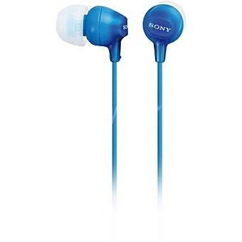 Sony Auriculares de botón en color azul MDREX15LPLI.AE 1 Unidad