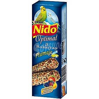 FRISKIES NIDO OPTIMAL Barritas para periquitos especial plumaje estuche 45 g 2 unidades