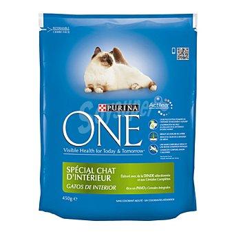 Purina One Comida para gatos con Pavo y Cereales 450 gr
