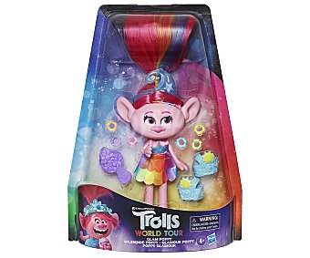 Trolls Surtido de muñecas Poppy Glam Rock con accesorios, World Tour trolls