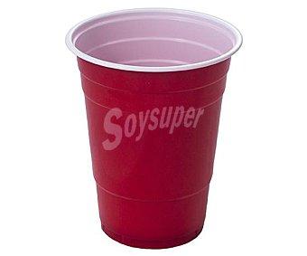 NUPIK Vasos de plástico color rojo, 0,55 litros de capacidad pack de 10 unidades