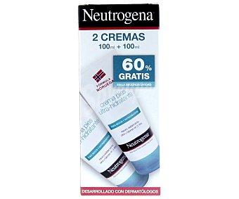 Neutrogena Crema hidratante especial para pies secos y estropeados 100 mililitros +100