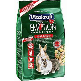 Emotion Vitakraft Alimento premium Balance para conejos enanos ayuda a equilibrar su alimentación Paquete de 600 g