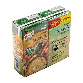 Knorr Crema líquida de calabacín con queso cabra Pack 2 x 500 ml