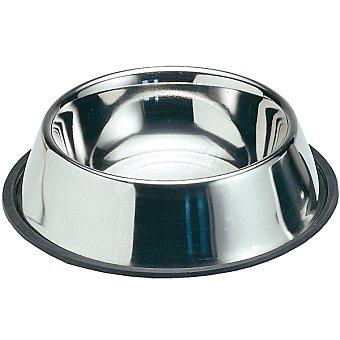 BIOZOO AXIS Comedero de acero inoxidable y antideslizante tamaño pequeño 0,4 l  1 unidad