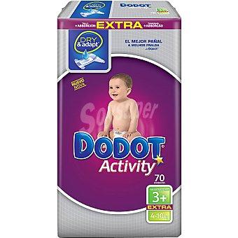 Dodot Activity Pañales de 4 a 10 kg talla 3 Extra Paquete 70 unidades
