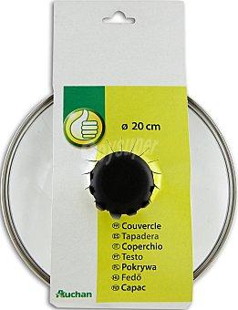 Productos Económicos Alcampo Tapa de cristal templado de 20 centímetros, con salida para vapor 1 Unidad