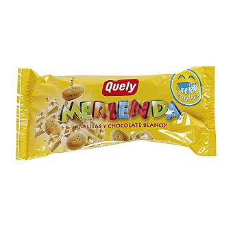 Quely Galleta de chocolate blanco para merienda Paquete 80 g