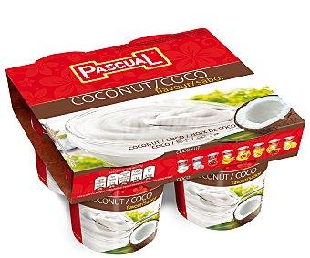 Pascual Yogur con sabor a coco 4 x 125 g
