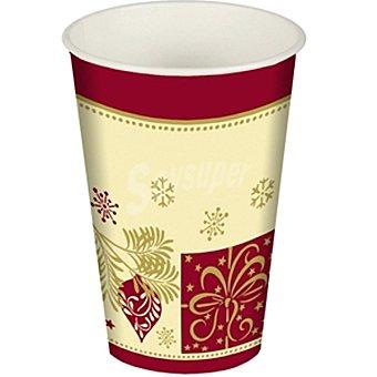 Papstar vaso cartón Christmas Symbols paquete 10 unidad 20 cl