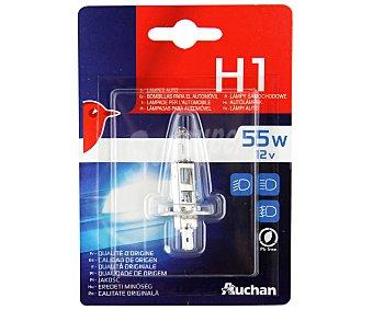 Auchan Bombilla para automóvil halógena, modelo H1, potencia: 55W 1 unidad
