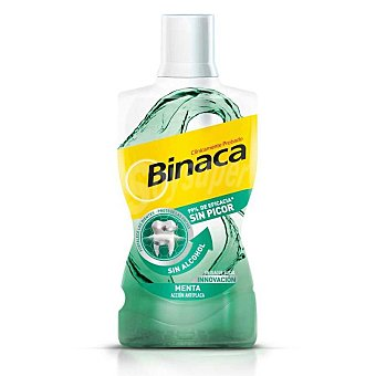 Binaca Enjuague bucal menta sin alcohol Botella 500 ml