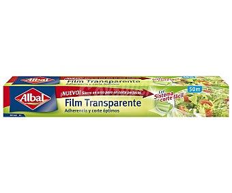 Albal Film transparente muy adherente y fácil de cortar Rollo 50 metros