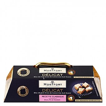monfort Foie gras de pato sin trozos + mini cortador bloc 160 G 160 g