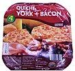 Quiche jamon y bacon horno 4 raciones (380 g) Hacendado
