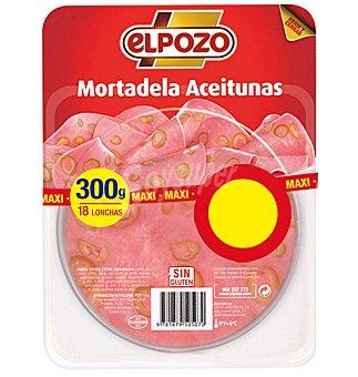 ELPOZO mortadela con aceitunas 18 lonchas envase 300 g