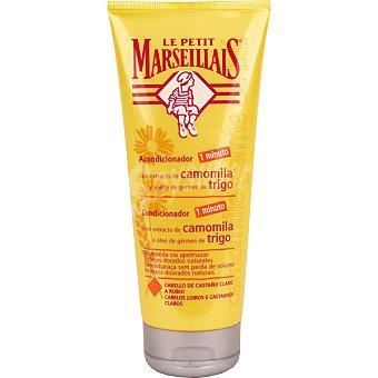 Le Petit Marseillais Acondicionador reflejos dorados con extracto de camomila y aceite de germen de trigo frasco 200 ml para cabello de castaño claro a rubio Frasco 200 ml