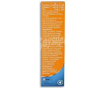Redoxon Complemento alimenticio de vitamina C y zinc con sabor a naranja Caja 15 uds