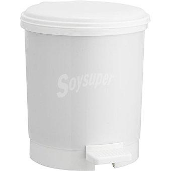 Unit Cubo de baño con pedal 3 L color blanco