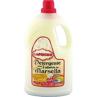 Capricho Detergente máquina líquido con jabón de Marsella Botella 40 dosis
