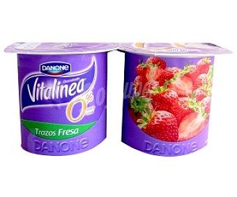 Vitalínea Danone Yogur desnatado con cereales-frambuesa 4 Unidades de 125 Gramos