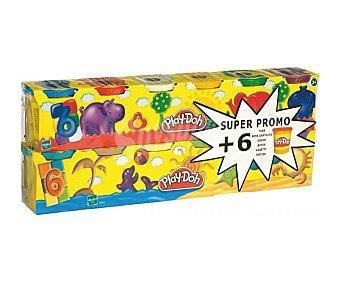 Playdoh Botes de colores de pasta para moldear no tóxica 12 unidades