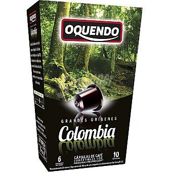 Oquendo Café 10 cápsulas compatibles con máquinas Nespresso GRANDES ORIGENES Colombia 10 cápsulas (estuche 85 g)