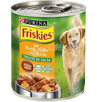 Purina Friskies Comida perro buey, pollo y verduras 800 G
