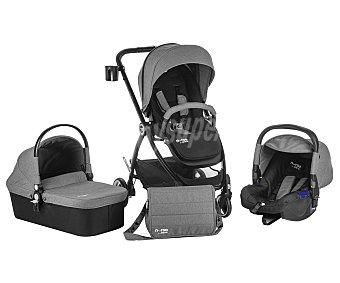 Baby nurse Coche de paseo trío, capazo homologado, burbuja para lluvia, color gris, baby nurse Trio treck trio trek black melange