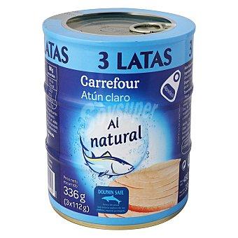 Carrefour Atún claro al natural Pack de 3x104 g