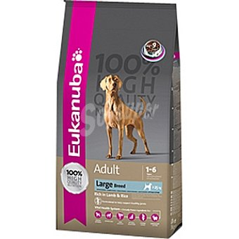 EUKANUBA ADULT LARGE BREED Alimento completo para perro adulto de razas grandes y gigantes con cordero y arroz Bolsa 3 kg