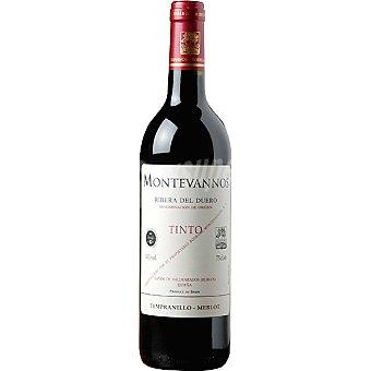 MONTEVANNOS Vino tinto joven tempranillo merlot D.O. Ribera del Duero botella 75 cl 75 cl