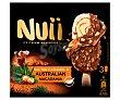Bombón helado de vainilla y caramelo salado, recubierto de chocolate con leche y nueces de macadamia 3 x 90 ml Nuii