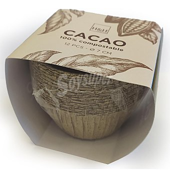 Habi Moldes Cacao Muffin Papel habi 7x4 cm 12 ud