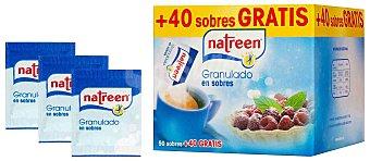 Natreen Aspartamo edulcorante granulado caja 50+40 sobres, 90 g