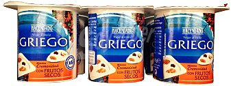 Hacendado Yogur griego frutos secos Pack 6 x 125 g - 750 g