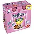 Yogurt para llevar sabor fresa Pack 4 u x 70 g Danonino Danone