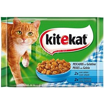 Kitekat Selección de pescado en gelatina para gato Pack 4 bolsas 100 g