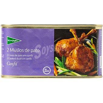 El Corte Inglés Muslos de pato en confit lata 450 g Lata 450 g