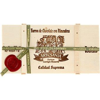 ARTESANIA turrón de chocolate con almendras Calidad Suprema Edición Especial Madera estuche 200 g