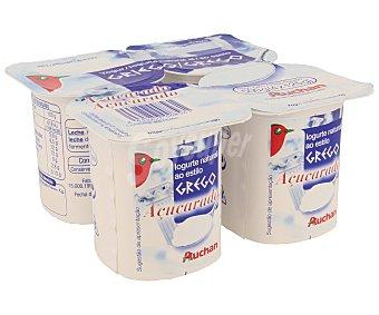 Auchan Yogur griego natural azucarado 4 x 125 g