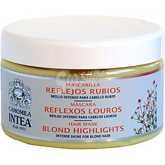INTEA Camomila Mascarilla reflejos rubios brillo intenso para cabello rubio Frasco 250 ml
