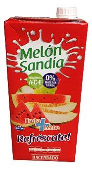 HACENDADO Frutas + leche melón sandía Brik de 1 l