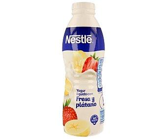 Nestlé Yogur líquido de fresa y plátano Bote de 750 ml