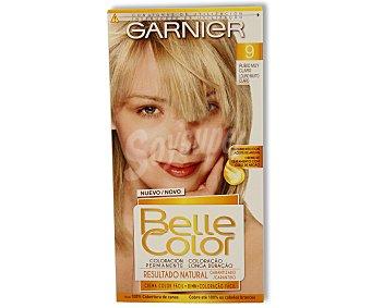 Belle Color Garnier Tinte rubio muy claro nº 9 coloración permanente  Caja 1 unidad