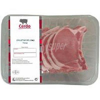 Chuleta de lomo de cerdo 850 gramos