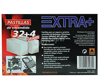 EXTRA+ Pastillas encendido 36 unidades