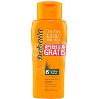 Babaria Leche Solar Aloe F6 Bote 350 ml + Aftersun