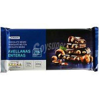 Eroski Basic Chocolate negro-avellanas Tableta 200 g