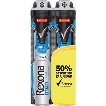 Rexona men desodorante Cobalt sin alcohol Pack 2 spray 200 ml